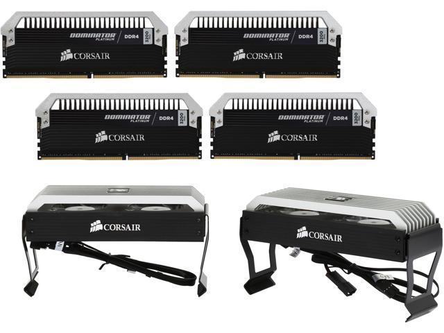 CORSAIR Dominator Platinum 16GB (4 x 4GB) DDR4 3200 (PC4-25600) Memory KitModel CMD16GX4M4B3200C15