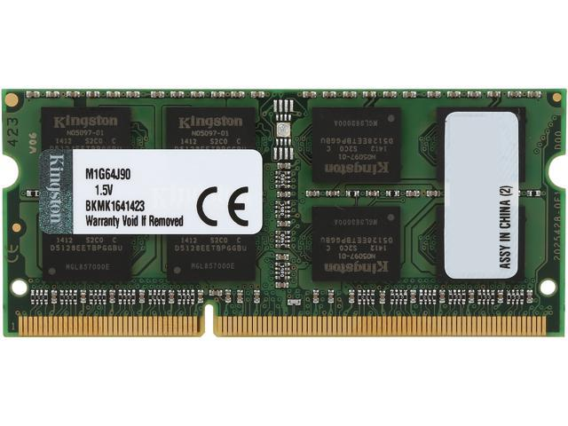 Kingston 8GB 204-Pin DDR3 SO-DIMM DDR3 1333 System Specific Memory Model M1G64J90