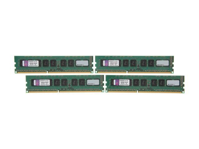 Kingston 32GB (4 x 8GB) 240-Pin DDR3 SDRAM ECC Unbuffered DDR3 1600 Server Memory w/TS Model KVR16E11K4/32