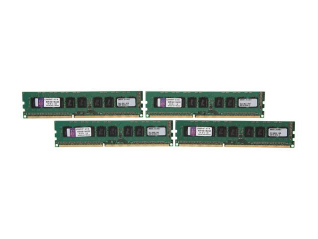 Kingston 32GB (4 x 8GB) 240-Pin DDR3 SDRAM ECC Unbuffered DDR3 1600 Server Memory w/TS Intel Model KVR16E11K4/32I