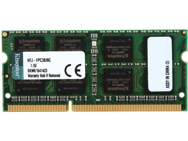 Kingston 8GB 204-Pin DDR3 SO-DIMM DDR3 1333 System Specific Memory Model KFJ-FPC3B/8G