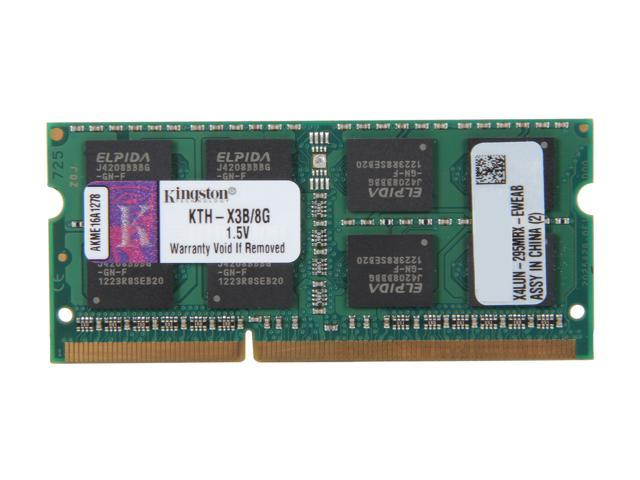 Kingston 8GB 204-Pin DDR3 SO-DIMM DDR3 1333 System Specific Memory Model KTH-X3B/8G