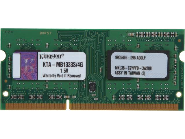 Kingston 4GB DDR3 1333 Memory for Apple Model KTA-MB1333S/4G