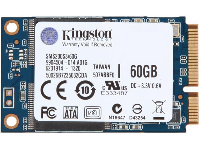 Kingston SMS200S3/60G 60GB Mini-SATA (mSATA) Internal Solid State Drive (SSD)