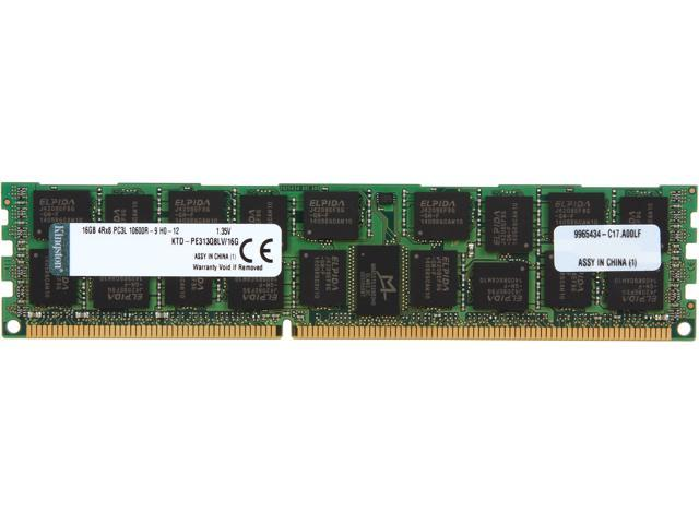 Kingston 16GB 240-Pin DDR3 SDRAM ECC Registered DDR3 1333 (PC3 10600) System Specific Memory Model KTD-PE313Q8LV/16G