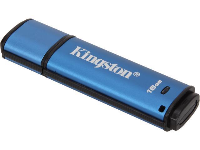 Kingston DataTraveler Vault Privacy 3.0 16GB USB 3.0 Flash Drive 256bit AES Encryption Model DTVP30/16GB