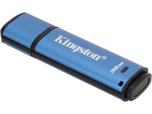 Kingston DataTraveler Vault Privacy 3.0 32GB USB 3.0 Flash Drive 256bit AES Encryption Model DTVP30/32GB