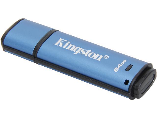 Kingston DataTraveler Vault Privacy 3.0 64GB USB 3.0 Flash Drive 256bit AES Encryption Model DTVP30/64GB
