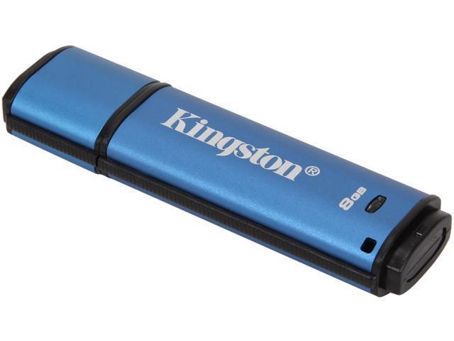 Kingston DataTraveler Vault Privacy 3.0 8GB USB 3.0 Flash Drive 256bit AES Encryption Model DTVP30/8GB