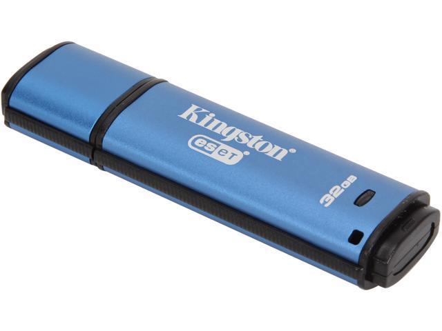 Kingston DataTraveler Vault Privacy 3.0 32GB Anti-Virus USB 3.0 Flash Drive 256bit AES Encryption Model DTVP30AV/32GB