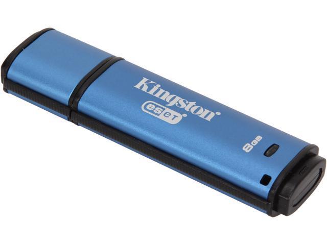 Kingston DataTraveler Vault Privacy 3.0 8GB Anti-Virus USB 3.0 Flash Drive 256bit AES Encryption Model DTVP30AV/8GB