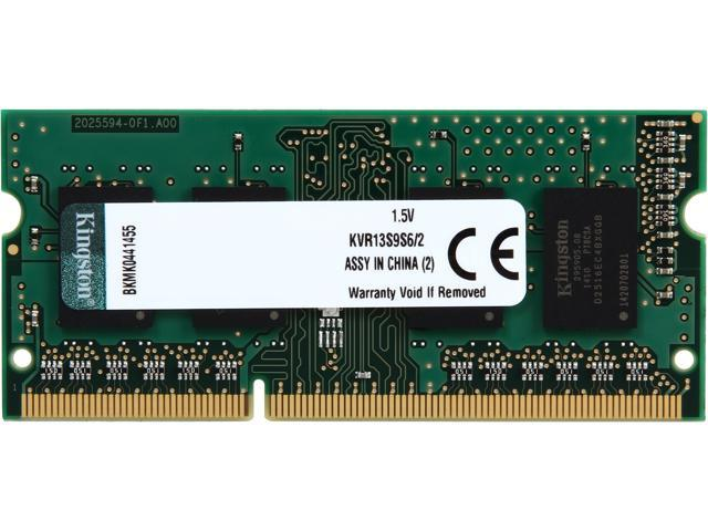 Kingston 2GB 204-Pin DDR3 SO-DIMM DDR3 1333 (PC3 10600) Laptop Memory Model KVR13S9S6/2