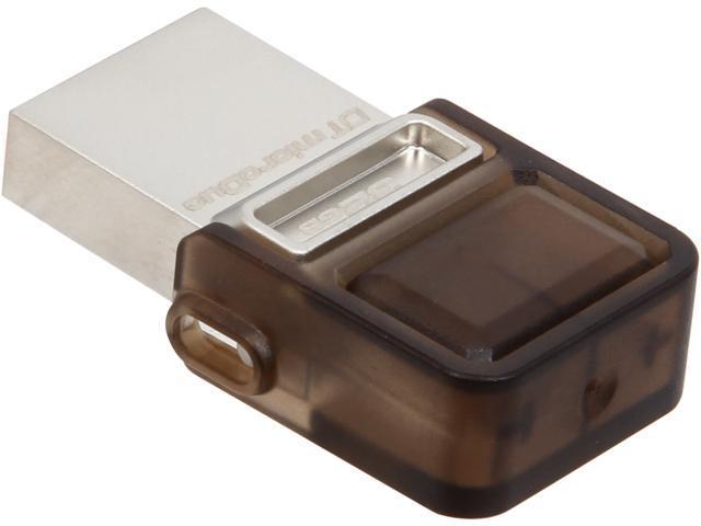 Kingston DataTraveler microDuo 32GB Micro USB OTG Flash Drive Model DTDUO/32GB