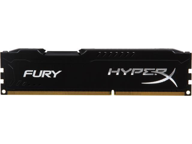 HyperX Fury Black Series 4GB 240-Pin DDR3 SDRAM DDR3 1333 (PC3 10600) Desktop Memory Model HX313C9FB/4