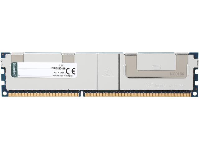 Kingston 32GB ECC Yes DDR3 1333 (PC3 10600) Server MemoryModel KVR13LL9Q4/32I