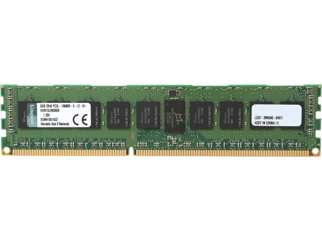 Kingston 8GB 240-Pin DDR3 SDRAM ECC Registered DDR3 1333 (PC3 10600) Server Memory Model KVR13LR9D8/8