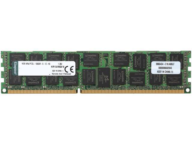 Kingston 16GB 240-Pin DDR3 SDRAM ECC Yes Registered DDR3 1333 (PC3 10600) Server MemoryModel KVR13LR9Q8/16
