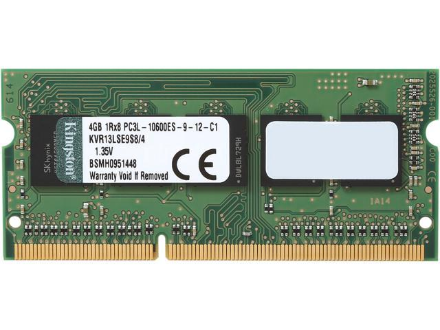 Kingston 4GB 204-Pin DDR3 SO-DIMM ECC DDR3 1333 (PC3 10600) Server Memory Model KVR13LSE9S8/4