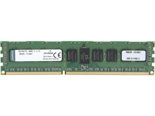 Kingston 8GB ECC Registered DDR3 1333 (PC3 10600) Server Memory Model KVR13R9D8/8