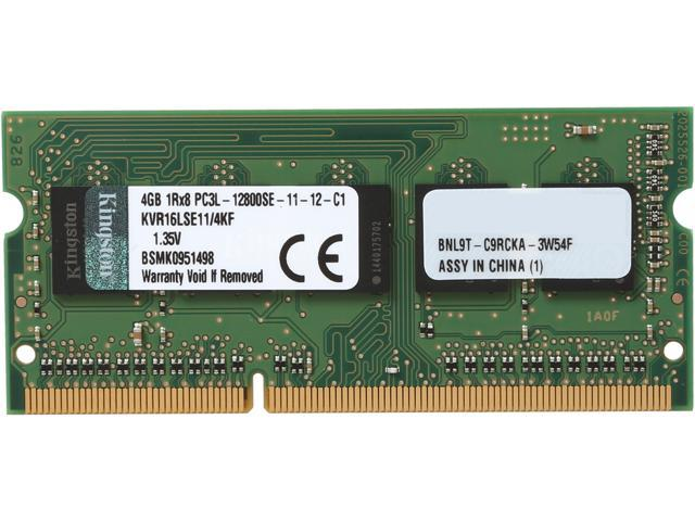 Kingston 4GB 204-Pin DDR3 SO-DIMM ECC Unbuffered DDR3 1600 (PC3 12800) Server Memory Model KVR16LSE11/4KF