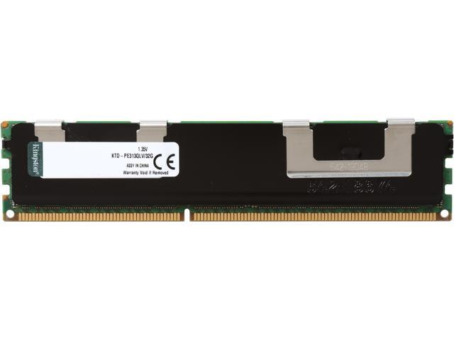 Kingston 32GB 240-Pin DDR3 SDRAM ECC Registered DDR3 1333 (PC3 10600) Quad Rank Low Voltage ModuleModel KTD-PE313QLV/32G