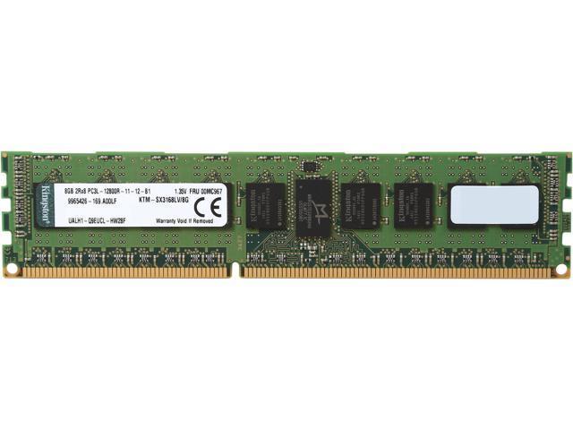 Kingston 8GB 240-Pin DDR3 SDRAM ECC Registered DDR3 1600 (PC3 12800) Low Voltage System Specific MemoryModel KTM-SX3168LV/8G