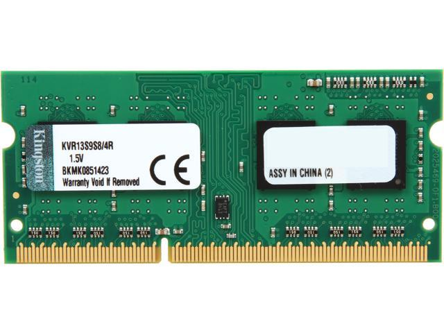 Kingston 4GB 204-Pin DDR3 SO-DIMM DDR3 1333 (PC3 10600) Laptop Memory Model KVR13S9S8/4R