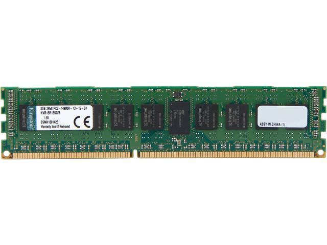 Kingston 8GB 240-Pin DDR3 SDRAM ECC Registered DDR3 1866 (PC3 14900) Server Memory With TS Model KVR18R13D8/8