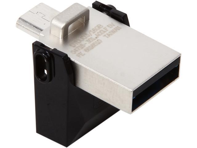 Kingston 16GB DataTraveler microDuo USB 3.0 On-The-Go Flash Drive