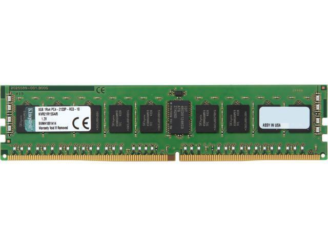 Kingston 8GB 288-Pin DDR4 SDRAM ECC Registered DDR4 2133 (PC4-17000) Server Memory Model KVR21R15S4/8