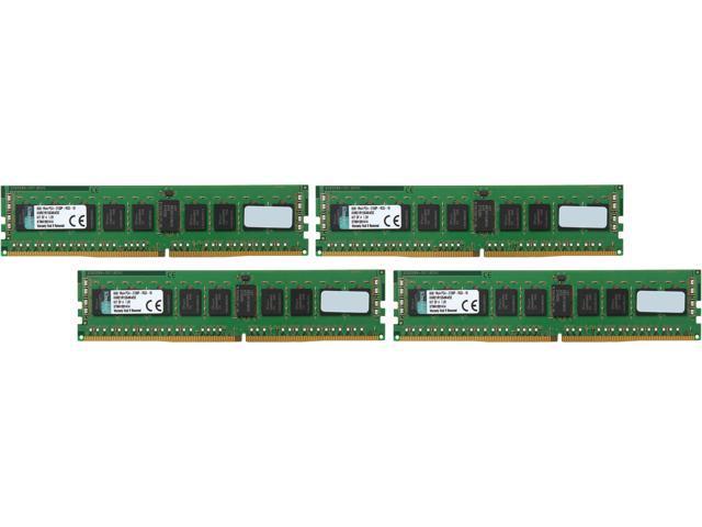 Kingston 32GB (4 x 8GB) 288-Pin DDR4 SDRAM ECC Registered DDR4 2133 (PC4-17000) Server Memory Model KVR21R15S4K4/32