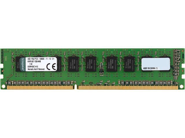 Kingston 4GB 240-Pin DDR3 SDRAM ECC Unbuffered DDR3 1600 (PC3 12800) Server Memory SR x8 w/TS Hynix B Model KVR16E11S8/4HB