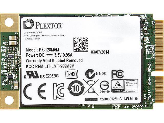 Plextor M5M 128GB Mini-SATA (mSATA) MLC Internal Solid State Drive (SSD) PX-128M5M