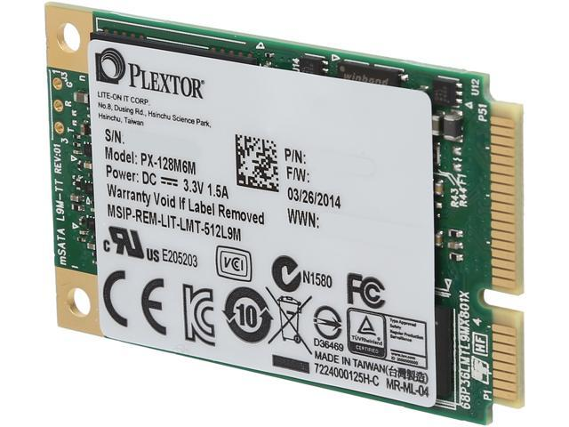 Plextor M6M Mini-SATA(mSATA) 128GB SATA 6Gb/s Internal Solid State Drive (SSD) PX-128M6M