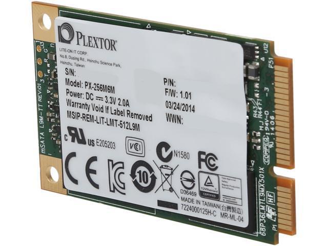 Plextor M6M PX-256M6M Mini-SATA(mSATA) 256GB SATA 6Gb/s Internal Solid State Drive (SSD)