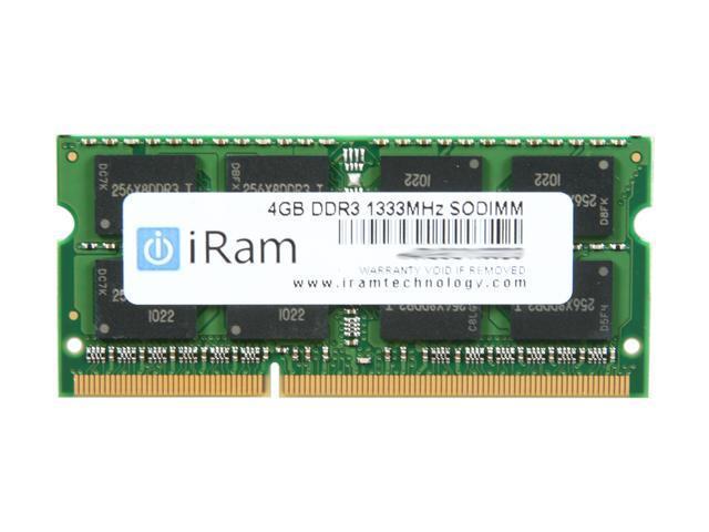 iRam 4GB DDR3 1333 Memory For Apple Notebook Model IR4GSO1333D3