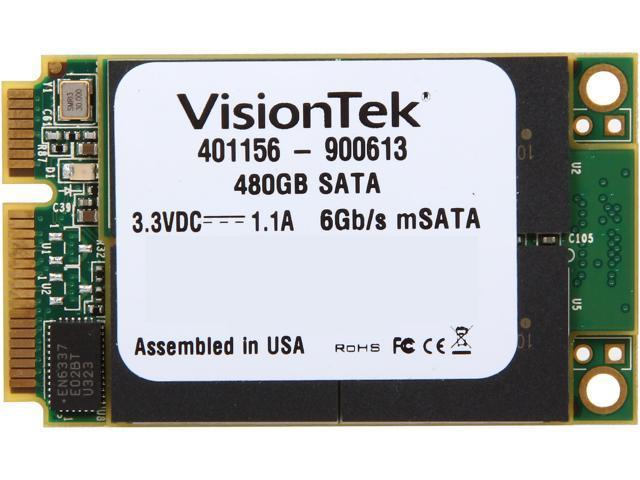VisionTek 900613 mSATA 480GB SATA III Internal Solid State Drive (SSD)
