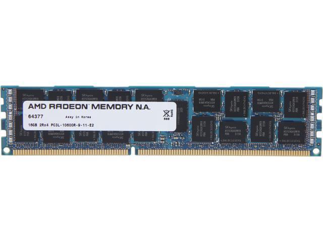 AMD Radeon 16GB 240-Pin DDR3 SDRAM ECC Registered DDR3 1333 (PC3 10600) Server Memory For DELL Model ASL1333RL/16GB