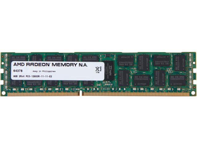 AMD Radeon 8GB 240-Pin DDR3 SDRAM ECC Registered DDR3 1600 (PC3 12800) Server Memory For DELL Model ASL1600R/8GB