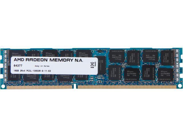 AMD Radeon 16GB 240-Pin DDR3 SDRAM ECC Registered DDR3 1333 (PC3 10600) Server Memory For LENOVO Model ASV1333RL/16GB