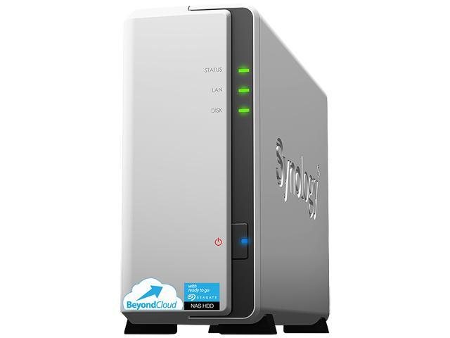 Synology BeyondCloud 1-Bay (1x 2TB NAS Drives) Network Attached Storage (NAS) BC115j 1200
