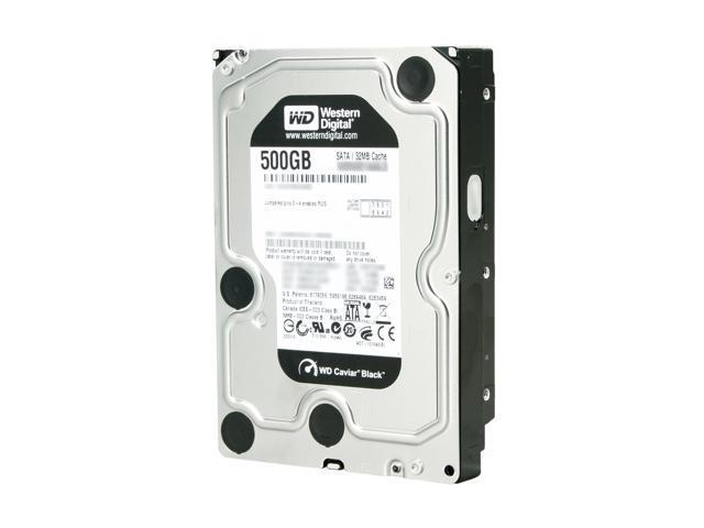 Western Digital Black WD5001AALS 500GB 7200 RPM 32MB Cache SATA 3.0Gb/s 3.5