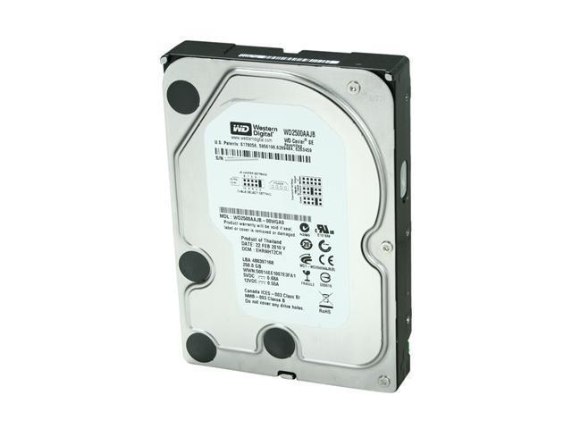 Western Digital Blue WD2500AAJB 250GB 7200 RPM 8MB Cache IDE Ultra ATA100 / ATA-6 3.5
