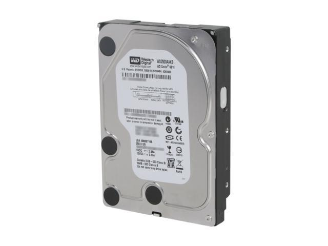 "Western Digital Blue WD2500AAKS 250GB 7200 RPM 16MB Cache SATA 3.0Gb/s 3.5"" Internal Hard Drive -Manufacture Recertified ..."
