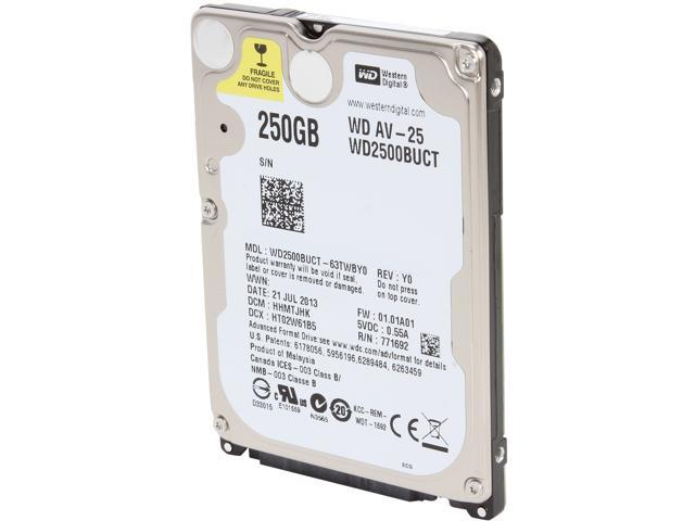 Western Digital WD AV-25 WD2500BUCT 250GB 5400 RPM 16MB Cache SATA 3.0Gb/s 2.5