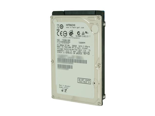 "Hitachi GST Travelstar 7K500 HD20500 IDK/7K 500GB 7200 RPM 16MB Cache SATA 3.0Gb/s 2.5"" Internal Notebook Hard Drive"