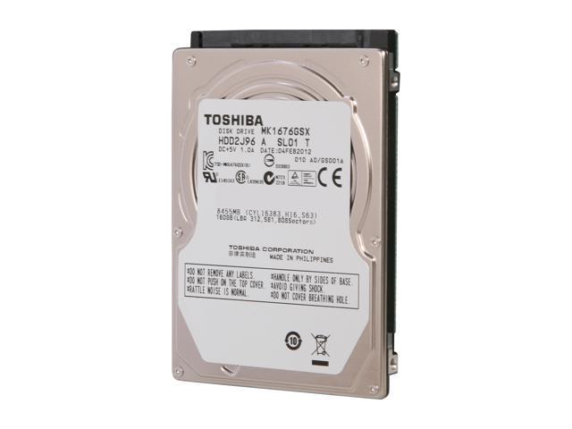 TOSHIBA MK1676GSX (HDD2J96) 160GB 5400 RPM SATA 2.5