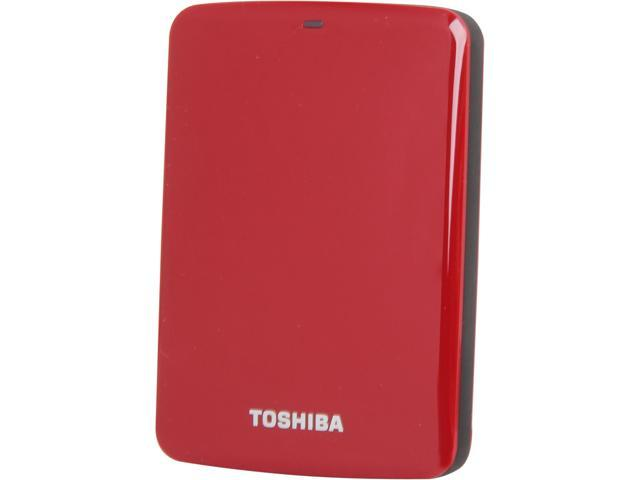 TOSHIBA Canvio Connect 1TB USB 3.0 External Hard Drive HDTC710XR3A1 Red