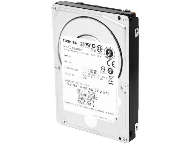 TOSHIBA MBF2600RC 600GB 10000 RPM 16MB Cache SAS 6Gb/s 2.5