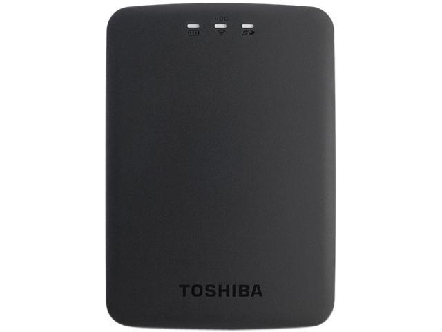TOSHIBA Canvio AeroCast 1TB 802.11b/g/n or USB 3.0 Wireless Portable Hard Drive HDTU110XKWC1 Black